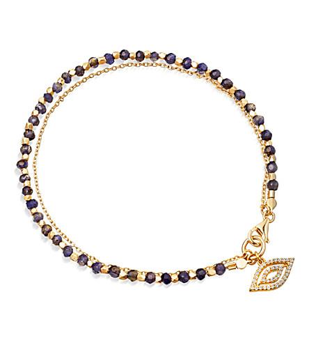ASTLEY CLARKE Sapphire Evil Eye 14ct gold, sapphire and diamond bracelet