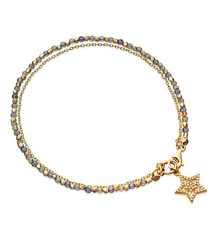 ASTLEY CLARKE Iolite Super Star 14ct gold, iolite and diamond bracelet