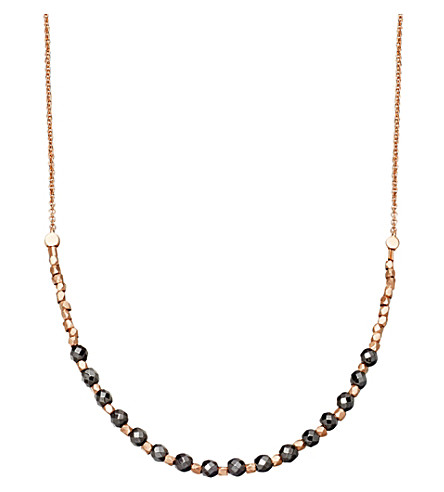ASTLEY CLARKE Hematite Detail 18ct rose gold-plated necklace