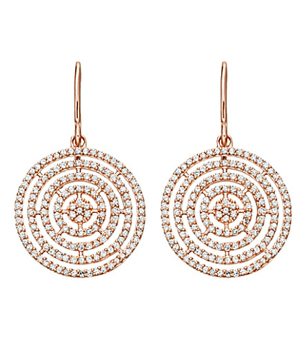 ASTLEY CLARKE Icon Aura 14ct rose gold and diamond earrings