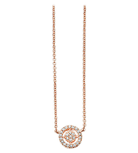 ASTLEY CLARKE Mini Icon Aura 14ct rose-gold and diamond pendant necklace