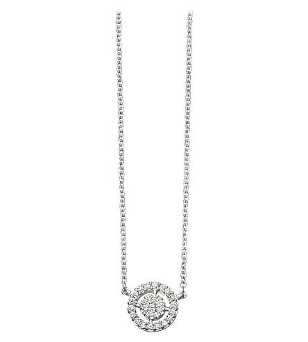 ASTLEY CLARKE 迷你图标光环 14 ct 白色黄金和钻石吊坠项链