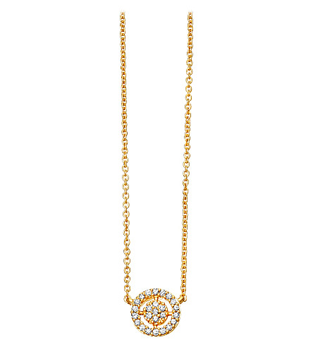 ASTLEY CLARKE Mini Icon Aura 14ct yellow-gold and diamond pendant necklace