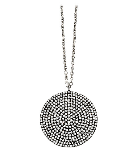 ASTLEY CLARKE Large Icon 14ct white-gold and diamond pendant necklace