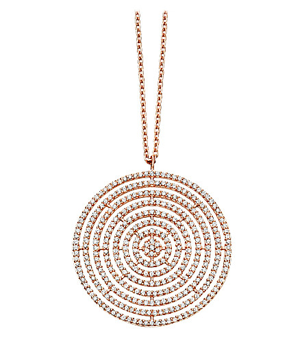 ASTLEY CLARKE Large Icon Aura 14ct rose-gold and diamond pendant necklace