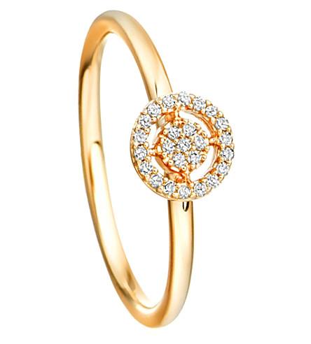 ASTLEY CLARKE 迷你图标光环14ct 黄色金色和钻石戒指