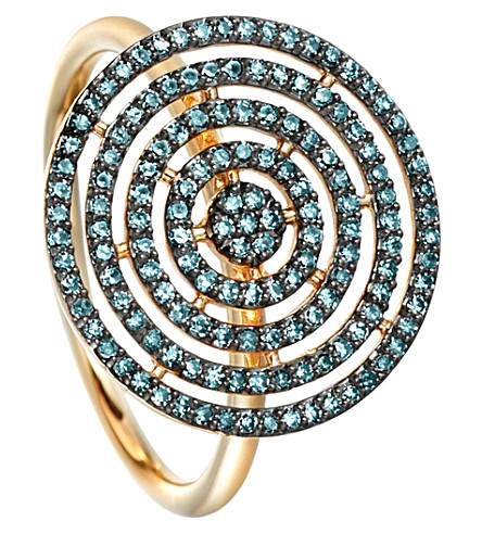ASTLEY CLARKE Icon Aura 14ct yellow-gold and blue diamond ring