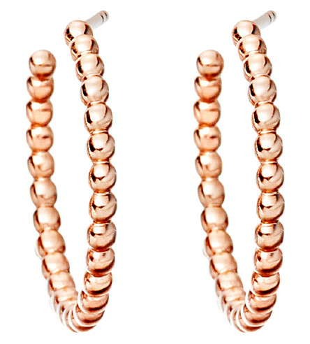 ASTLEY CLARKE Beaded 14ct rose gold-plated sterling silver hoop earrings