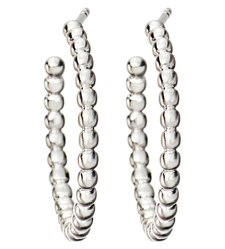 ASTLEY CLARKE Beaded sterling silver hoop earrings