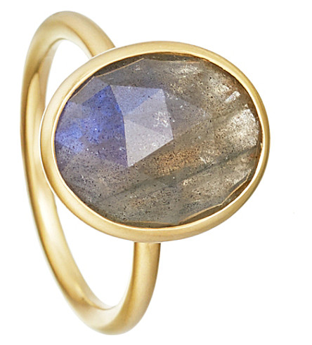 ASTLEY CLARKE Labradorite Large Oval Stilla 18ct yellow gold-plated ring
