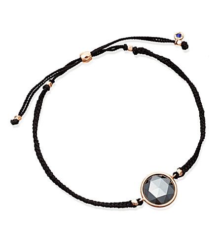 ASTLEY CLARKE Hematite Polka 18ct rose gold-plated bracelet