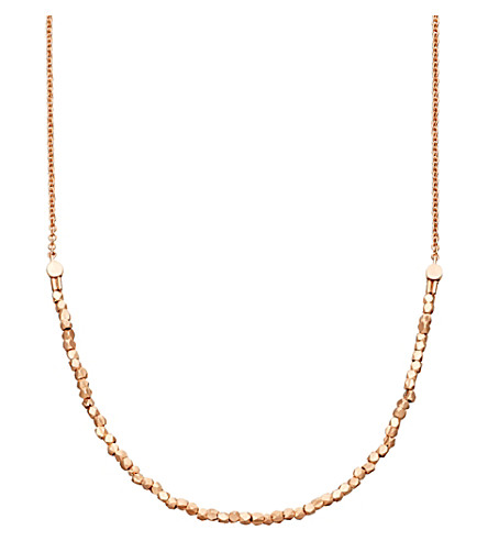 ASTLEY CLARKE Biography Nugget Detail 18ct rose gold necklace