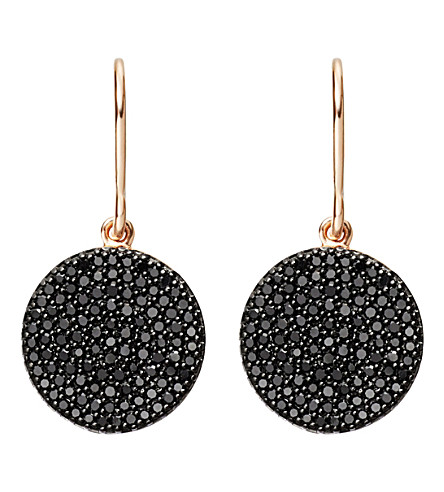 ASTLEY CLARKE Icon 14ct rose-gold and black diamond earrings