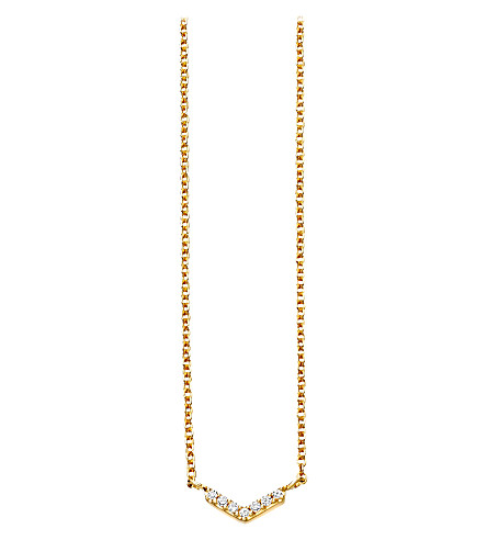 ASTLEY CLARKE Varro honeycomb diamond and yellow-gold pendant
