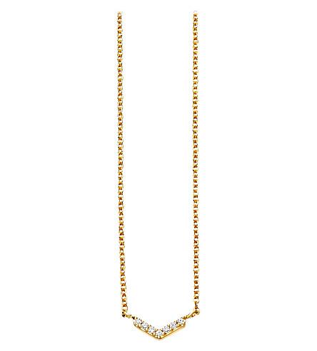 ASTLEY CLARKE 维罗蜂窝钻石及黄金色吊坠