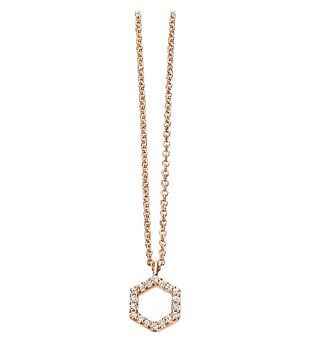 ASTLEY CLARKE Varro honeycomb diamond and rose-gold pendant
