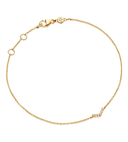 ASTLEY CLARKE Varro honeycomb diamond and yellow-gold bracelet