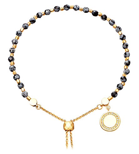 ASTLEY CLARKE Thundercloud 18ct yellow-gold vermeil, obsidian and sapphire kula bracelet