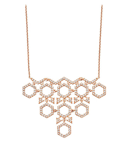 ASTLEY CLARKE Honeycomb diamond and rose-gold pendant