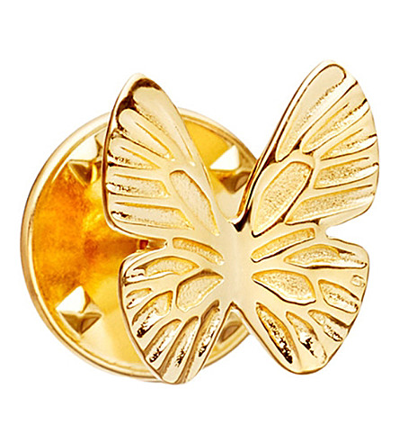 ASTLEY CLARKE Butterfly Biography 18ct yellow gold-plated vermeil pin