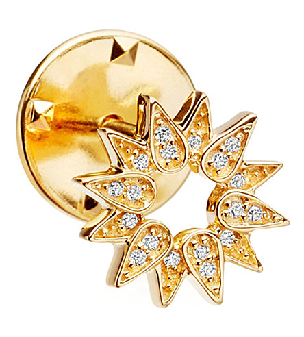ASTLEY CLARKE Sun Biography 18ct yellow gold-plated vermeil and sapphire pin