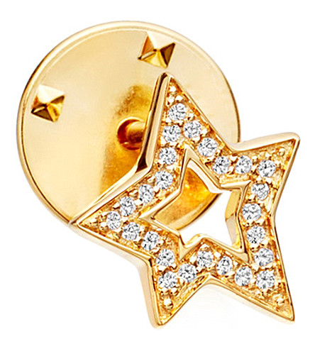 ASTLEY CLARKE Star Biography 18ct yellow gold-plated vermeil and sapphire pin