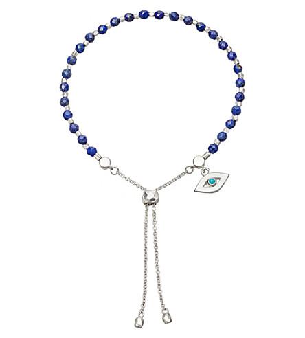 ASTLEY CLARKE Evil Eye sterling silver and lapis kula bracelet