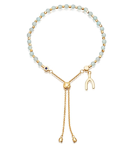ASTLEY CLARKE 18ct gold vermeil and amazonite Wishbone Kula Bracelet
