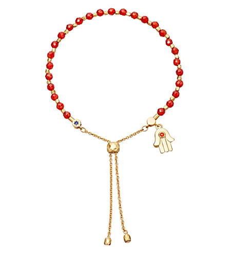ASTLEY CLARKE Hamsa kula 18ct yellow gold-plated friendship bracelet