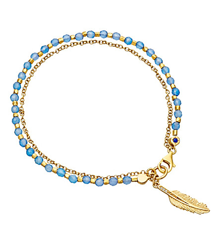 ASTLEY CLARKE Biography feather 18ct yellow gold-plated sterling silver bracelet (Yellow+vermeil