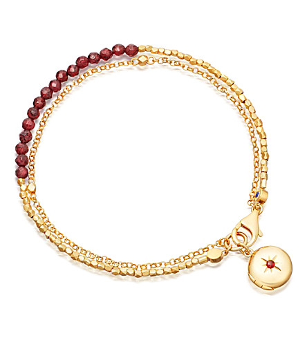 ASTLEY CLARKE Biography 18ct gold-plated garnet bracelet (Yellow+gold