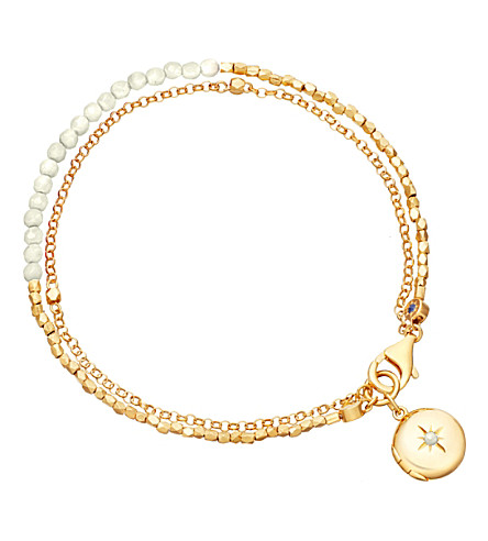 ASTLEY CLARKE Biography 18ct gold-plated moonstone bracelet (Yellow+gold
