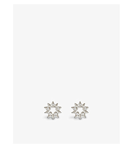 ASTLEY CLARKE Mini Sun Biography sapphire stud earrings (Sterling+silver