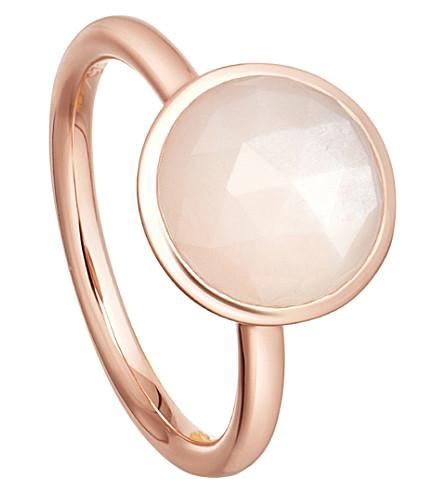 ASTLEY CLARKE Stilla 18ct rose-gold plated moonstone ring