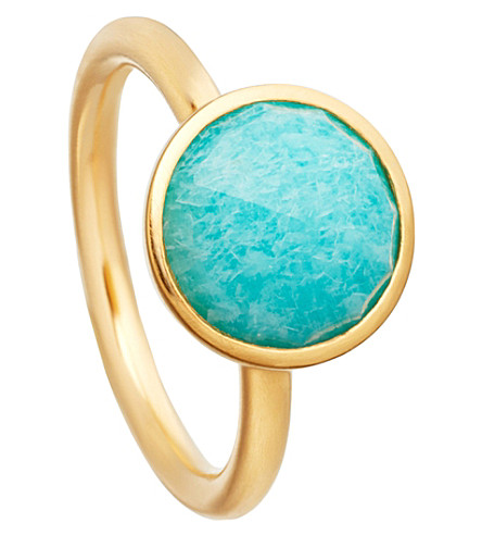 ASTLEY CLARKE Stilla 18ct yellow-gold plated amazonite ring (Yellow+gold