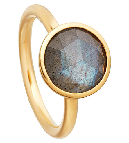 ASTLEY CLARKE Stilla 18ct yellow-gold plated labradorite ring (Yellow+gold