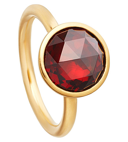 ASTLEY CLARKE Stilla 18ct yellow-gold plated garnet ring (Yellow+gold