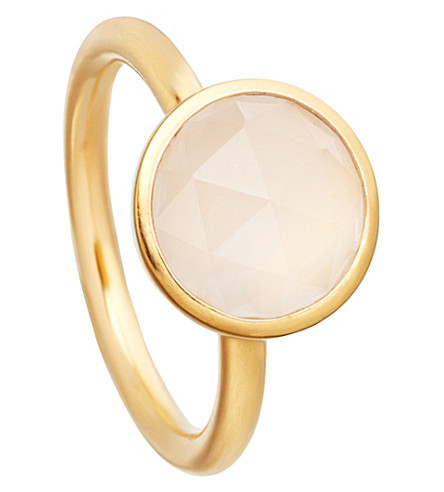 ASTLEY CLARKE Stilla 18ct yellow-gold plated moonstone ring (Yellow+gold