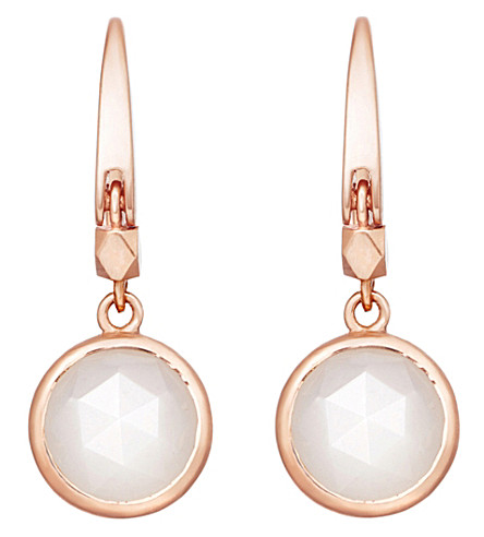 ASTLEY CLARKE Stilla 18ct rose gold-plated moonstone earrings