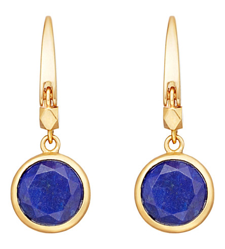 ASTLEY CLARKE Stilla 18ct gold-plated lapis lazuli earrings (Yellow+gold