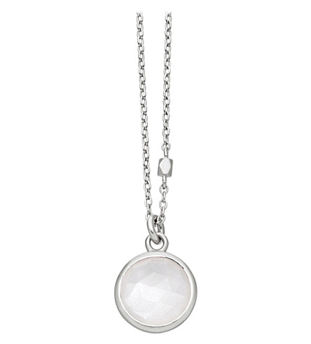 ASTLEY CLARKE Stilla sterling silver moonstone pendant necklace