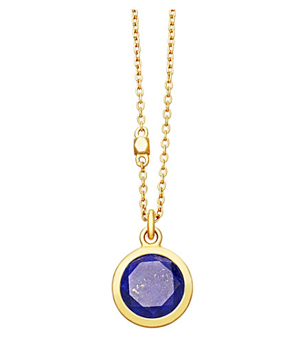 ASTLEY CLARKE Stilla 18ct gold-plated lapis lazuli pendant necklace (Yellow+gold