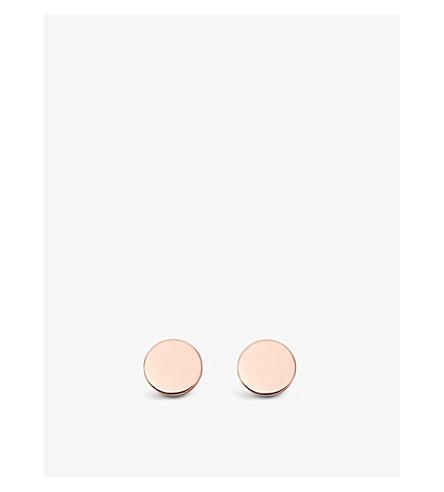 ASTLEY CLARKE Disc Stilla stud earrings (Rose+vermeil
