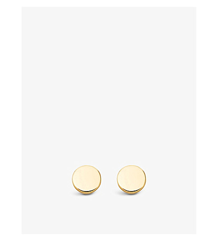 ASTLEY CLARKE Disc Stilla stud earrings (Yellow+vermeil