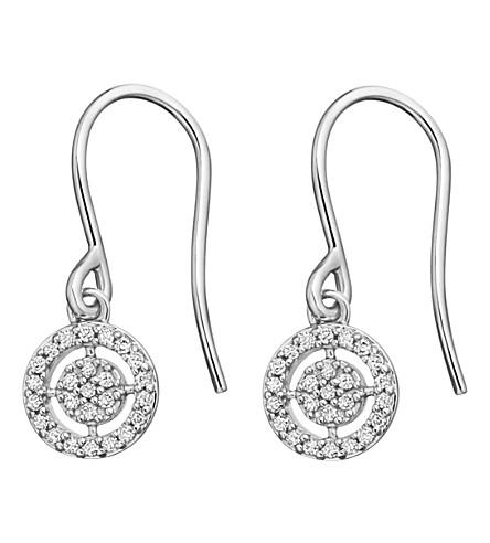 ASTLEY CLARKE Mini Icon Aura 14ct white-gold diamond drop earrings (White+gold