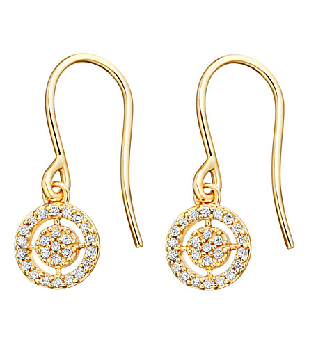 ASTLEY CLARKE Mini Icon Aura 14ct yellow-gold diamond drop earrings (Yellow+gold