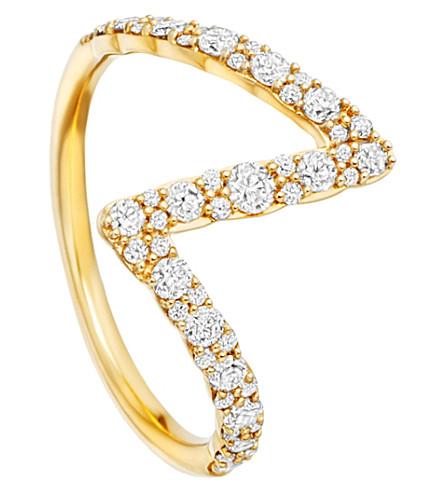 ASTLEY CLARKE Interstellar 14ct yellow-gold diamond flash ring (Yellow+gold