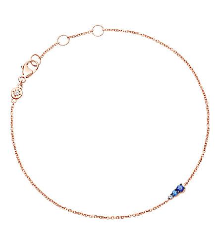 ASTLEY CLARKE Sapphire Mini Interstellar 14ct rose-gold and sapphire bracelet (Rose+gold