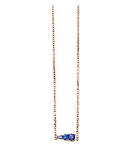 ASTLEY CLARKE Sapphire mini interstellar pendant (Rose gold