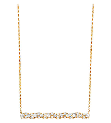 ASTLEY CLARKE Linia Interstellar 14ct yellow gold and diamond pendant (Yellow gold